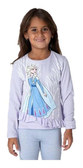 Remera Manga Larga Frozen 2 Princesas Elsa Disney Niña