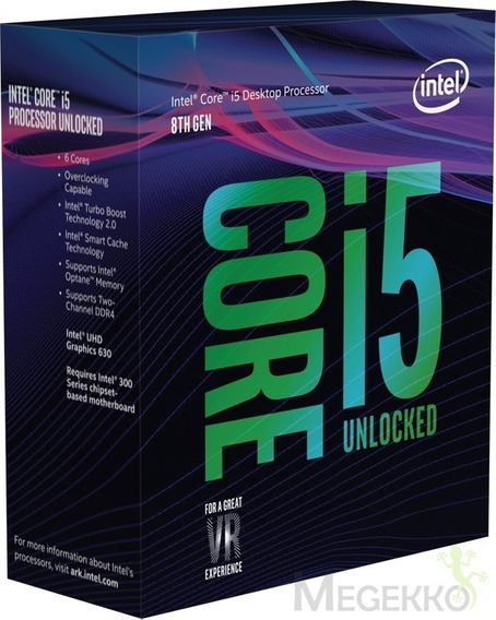Processador Intel Core I5 8600k 3.6ghz Turbo Boost 4.3ghz Lga 1151