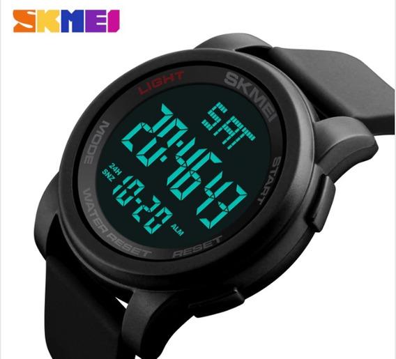Relógio Skmei Digital Black 1257 Original À Prova D