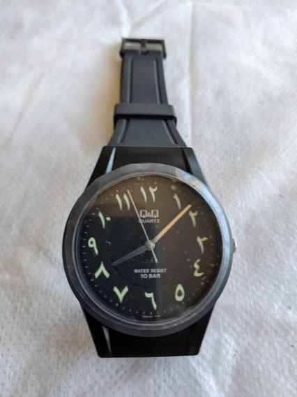 Relógio Q&q , Números Árabe , Original , 2 Cores , Grande