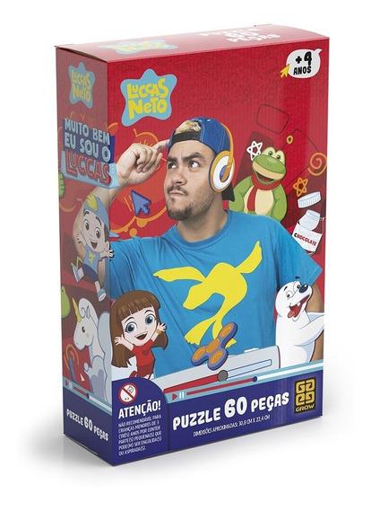 Puzzle 60 Peças Luccas Neto Grow