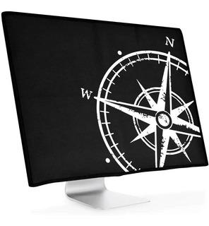 Funda Para Monitores De 27-28 Pulgadas Con Diseño De Brujula