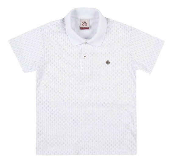 Camisa Polo Masculina Tholloko I51836 Branco Tamanho 6