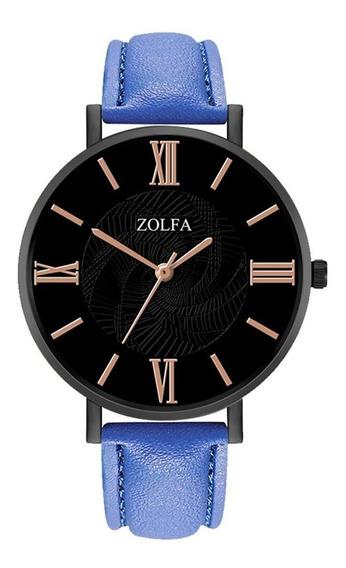 Zl116-ha Senhoras Relógio De Quartzo Pulseira De Couro Cláss