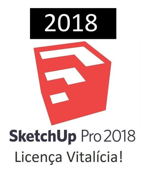 Sketchup Pro 2018 64 Bits Completo Vitalício