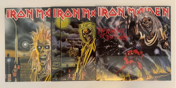 3 Lps Iron Maiden + Killers + The Number Of The Beast Novos!