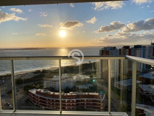 Apartamento En Alquiler, Mansa, Punta Del Este, 2 Dormitorios.- Ref: 3491