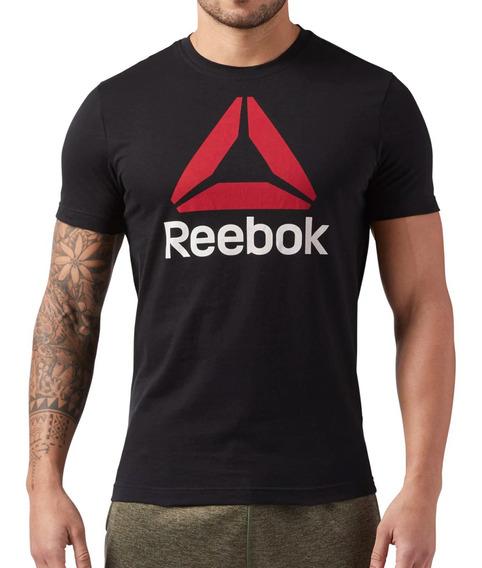 Remera Reebok Training Stacked Hombre Ng