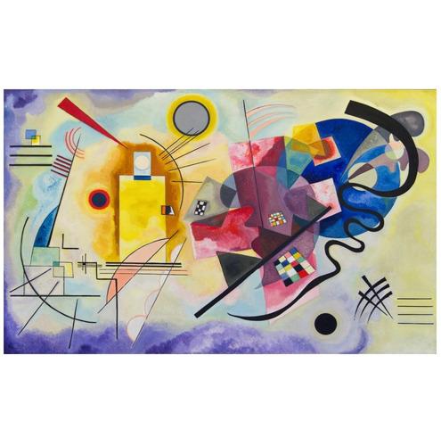 Poster Kandinsky 60cmx100cm Obra Vermelho Amarelo E Azul