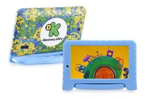 Tablet Infantil Criança Multilaser Discovery Kids Capa Azul