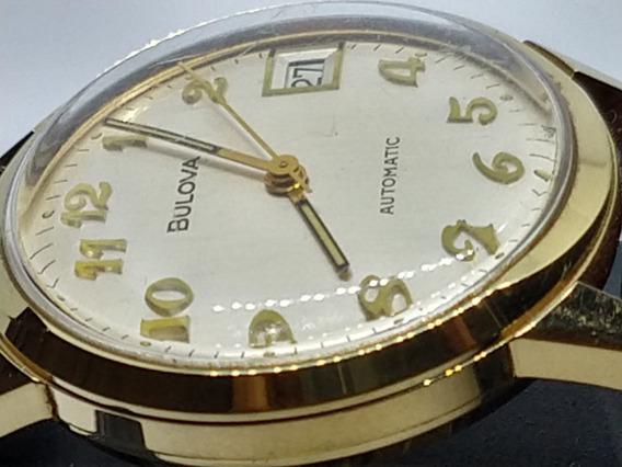 Relógio Bulova Produção Germany- Automático- Banho De Ouro