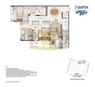 Imagem 1 de 10 de Apartamento 3 Quartos 2 Vagas Santa Rosa - 3061