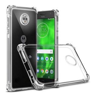 Funda Tpu Air-x Moto E5 Play Antishock + Glass Templado