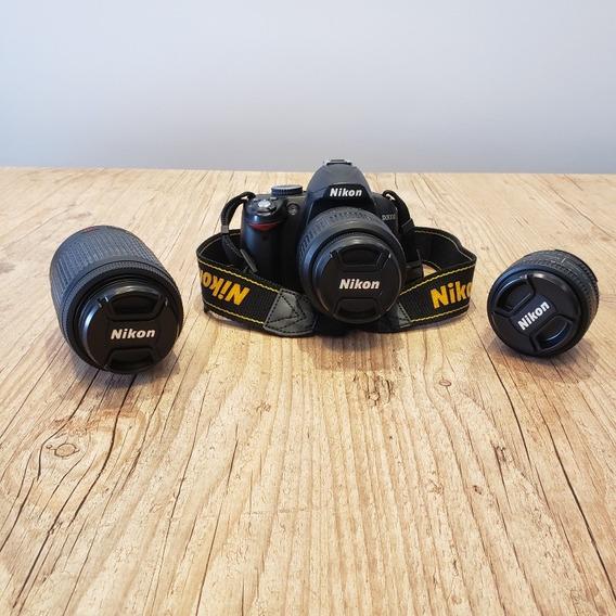 Nikon D3000 + 2 Lentes + 2 Mochilas
