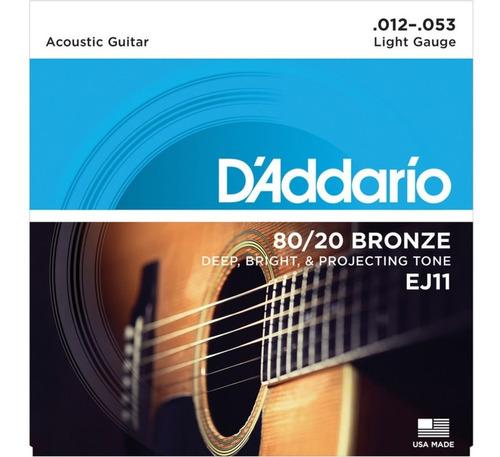Encordado Guitarra Electroacústico Acero Daddario Ej11