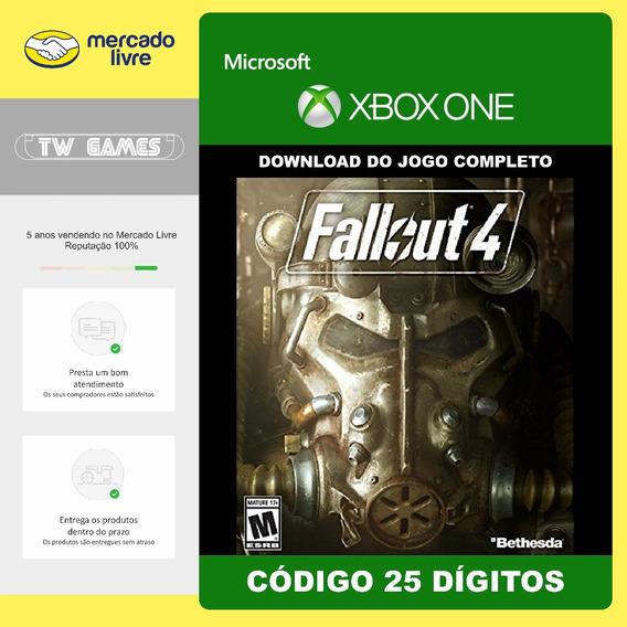 Fallout 4 Codigo 25 Digitos Original Microsoft Xbox One