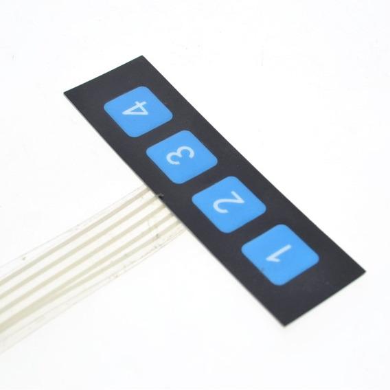 Teclado Matricial De Membrana 4 Teclas Formato 1x4 Arduino