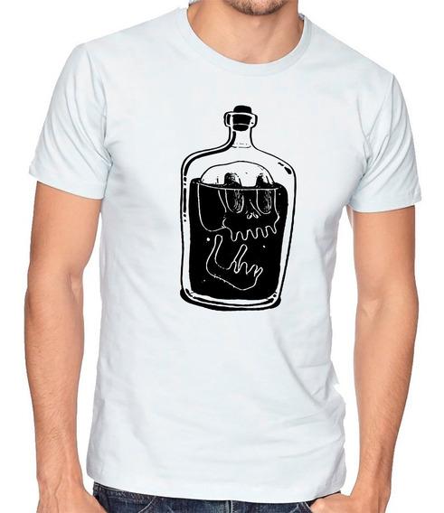 Playera Botella Ron Calavera Skull Camiseta Hombre Niño #700