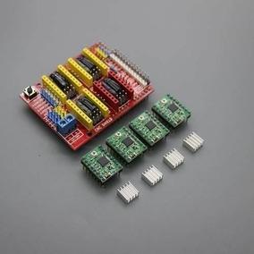 Cnc Shield V3 + 4x A4988 + Dissip Grbl Arduino Reprap