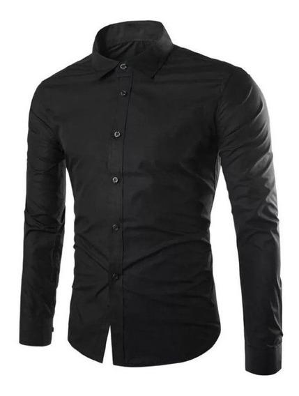 Camisa Hombre Entallada Slim Fit Vs Colores Ideal Oficina