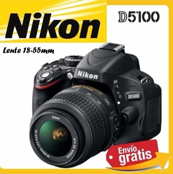 Barato Câmera Nikon D5100 18-55mm Full Hd Bolsa Carregador