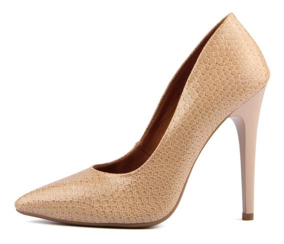 Sapato Femenino Scarpin Bico Fino Salto Alto 11 Cm Piton