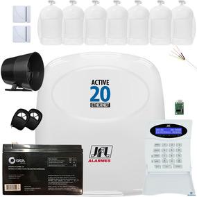Kit Alarme Active 20 Ethernet Sensores Pet 20kg Idx 2001 Jfl