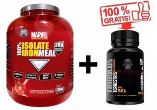 Whey Iron Meal Isolate Pote 3kg + Tribulus 60 Cps Grátis