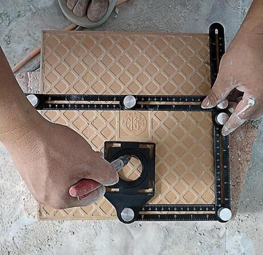 Copiador De Furos Multi Ângulo Dobravél Em Alumínio Grande
