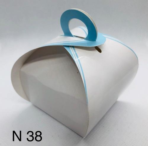 Imagem 1 de 11 de 60 Caixinhas Para Bem Casado Lembrança Francesinha Azul Cl