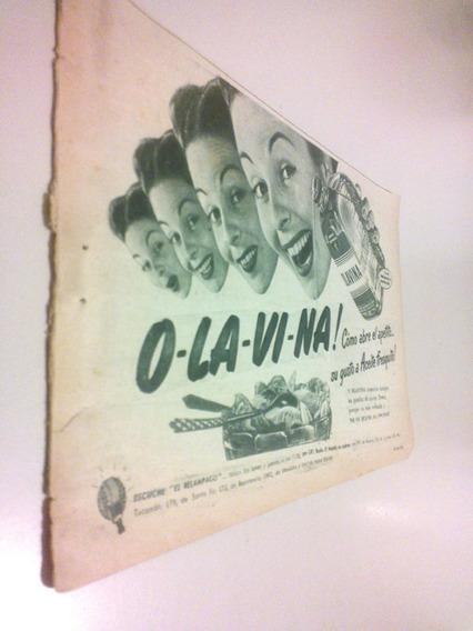 Aceite Olavina Cocina Argentina - Antigua Publicidad 1950s