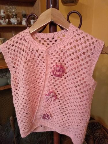 bff9fdfc8 Chaleco Crochet Verano Tejido - Ropa y Accesorios Rosa claro en ...