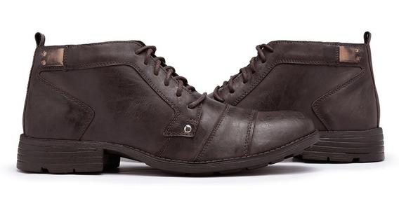 Bota Casual Masculino Sapato Social Cano Médio Manchado