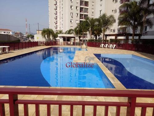 Apartamento Com 2 Dormitórios À Venda, 52 M² Por R$ 350.000,00 - Castelo - Santos/sp - Ap0530