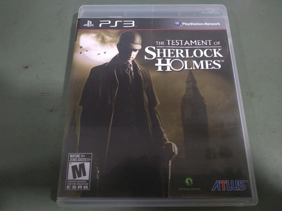 Jogo Seminovo The Testament Of Sherlock Holmes Ps3 Aproveite