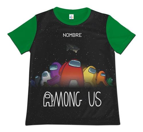 Camiseta Camisa Niño Among Us Personalizada Algodon
