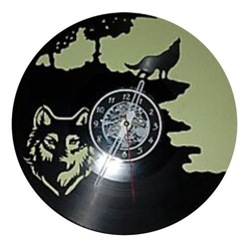 Lobo Disco De Vinilo Reloj  Arte Decoracion