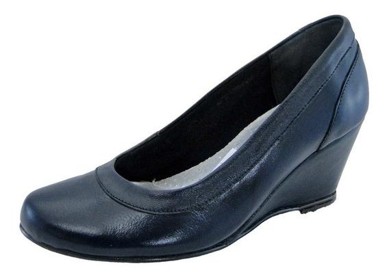 Zapato Cuero Tacon Corrido Y Forrado Uniforme Vestir