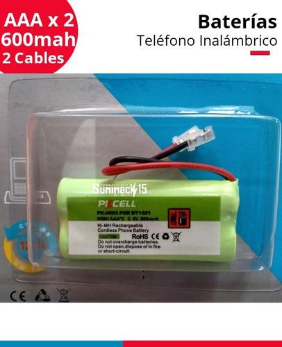 Imagen 1 de 2 de Bateria Telefono Inalambrico Bt1021 2.4/600mah 2 Cables
