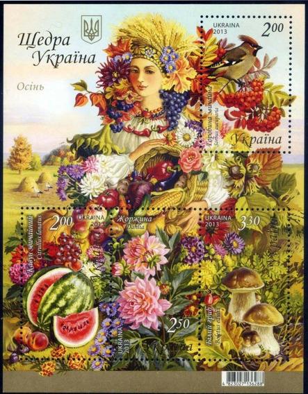 2013 Fauna Flora- Otoño- Aves- Flores- Ucrania Mnh