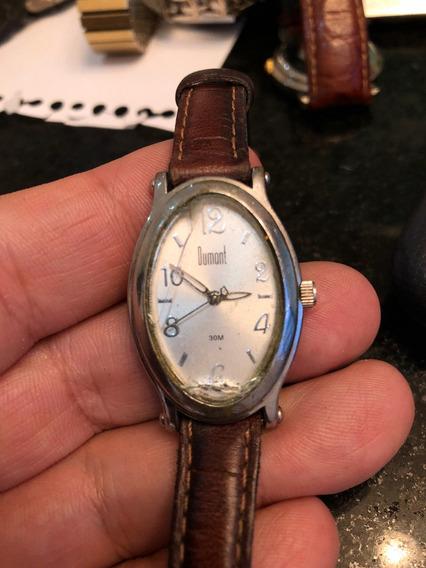 Relógio Dumont Funcionando Feminino Sem Pilha Du25439z