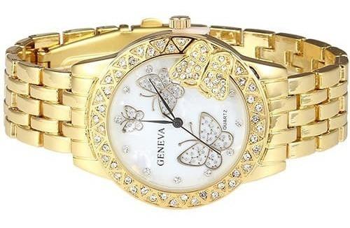 Relógio Feminino Dourado Barato No Mercado Livre