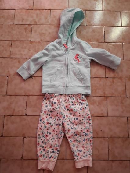 Conjunto De Algodon 6 Meses Pantalon Y Campera Joguin,nena