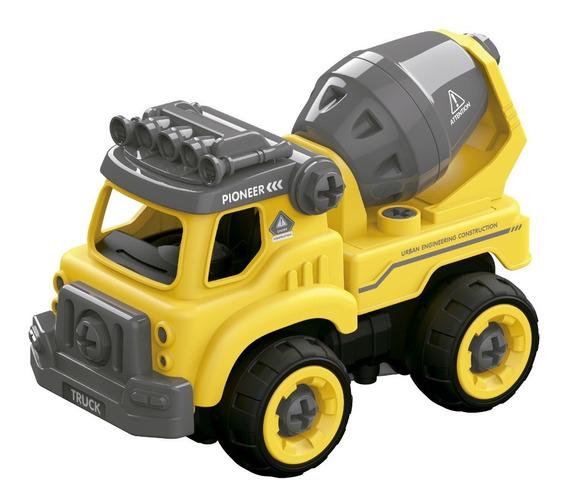 Diy Camion Mezclador Para Armar Con Herramienta 28 Pzas Full