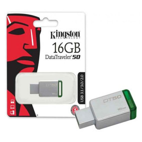 Pendrive 16gb Kingston Dt50 Usb3.1 - 3.0 - 2.0 - Metal