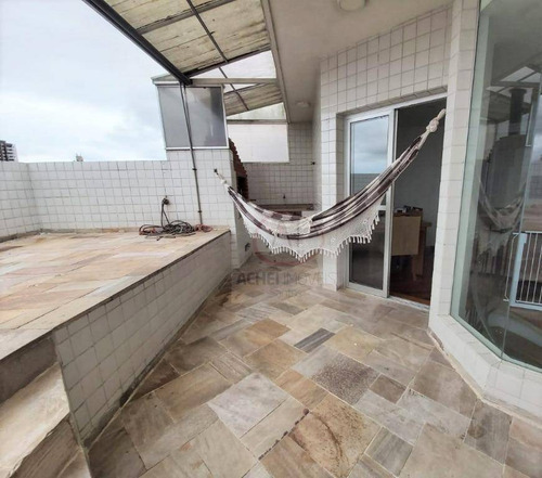 Imagem 1 de 10 de Cobertura Com 3 Dormitórios (1 Suíte) E 2 Vagas Próprias, Lazer, À Venda, 220 M², Por R$ 738.000,00 - Vila Matias - Santos/sp - Co0103