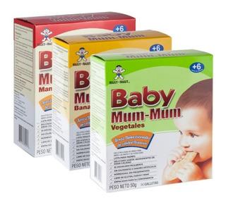 Combo Galletas Baby Mum Mum X3