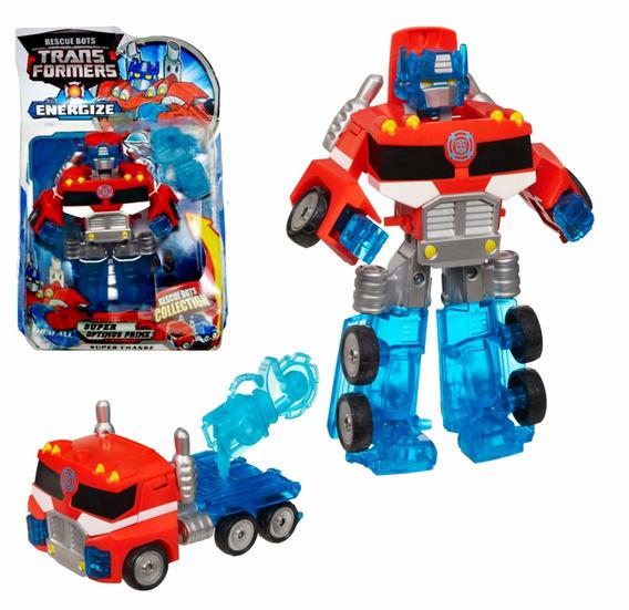 Boneco Transformers Optimus Prime Rescue Bots Energize