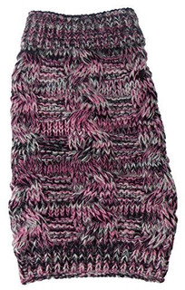 Pet Life Royal Bark Heavy Cable Knitted Designer Fashion D X