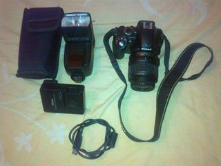 Nikon D3100 + Flash Yongnuo 565ex + Cargador + Batería